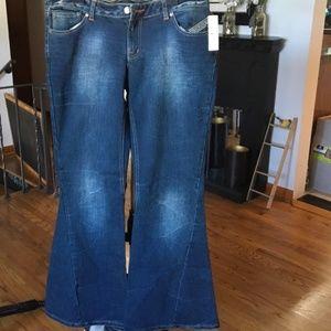 Bisou Bisou wide bell bottom jeans